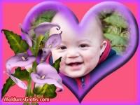 Dentro do coração com flores