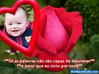 Coração e rosa