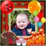 Balões, torta, doces e presentes