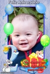 Desejo feliz aniversário de 2 anos