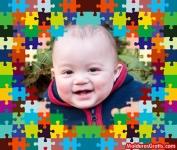 Borda de quebra-cabeças coloridos