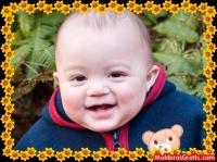 Borda feita de flores amarelas