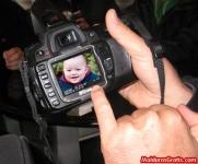 Tela de uma câmera