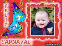 Feliz carnaval com fundo vermelho