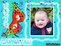 Feliz carnaval com fundo azul