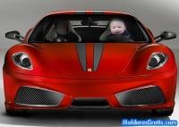 Ao volante de uma Ferrari