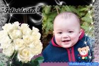 Flores brancas e rendas