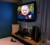 Televisão LCD em um quarto