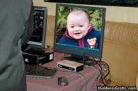 Foto no monitor