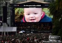 Telão em um concerto musical