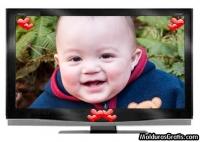 Televisão com corações