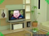 Televisão na sala de estar