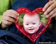 Coração bordado