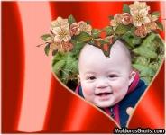 Corações com flores