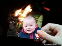 Retrato queimando