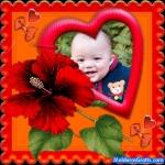Corações, laços e flores
