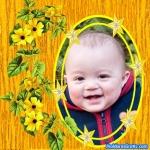 Flores e estrelas amarelas