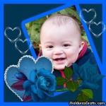 Corações e Rosas azuis