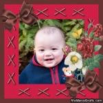 Cartão com ramalhete de flores