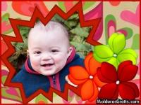Flores e corações coloridos