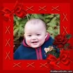 Cupido, laços e rosas vermelhas
