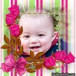 Listras, pérolas, laços e rosas