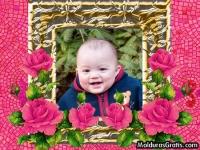 Rosas e pedrinhas cor-de-rosa