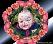Rosas e gotas de corações