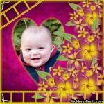 Moldura de flores e corações