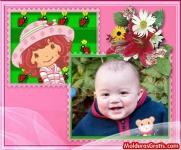 A Moranguinho, com flores e joaninhas