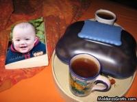 Livro e café da manhã