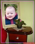Porta-retrato sobre a cômoda
