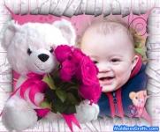 Ursinho com flores